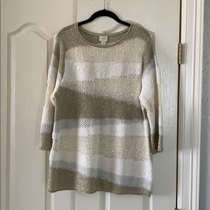 NWOT Gorgeous Chico's sweater, size 2